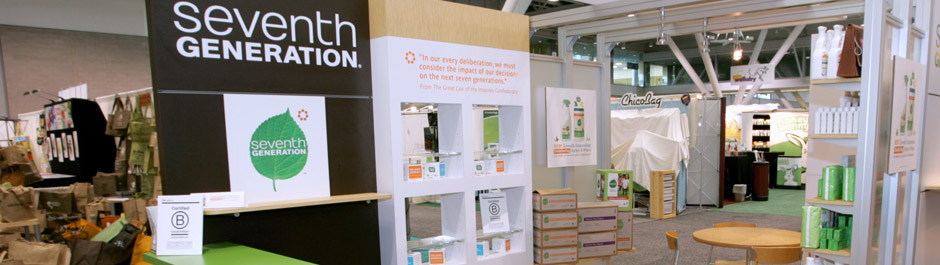 Trade Show exhibit design - Seventh Generation
