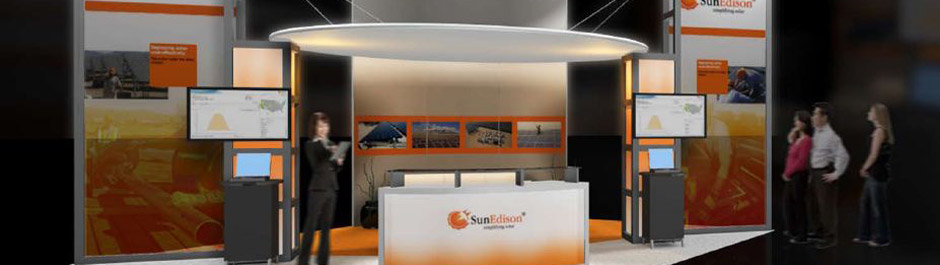 Trade Show exhibit design - Sun Edison
