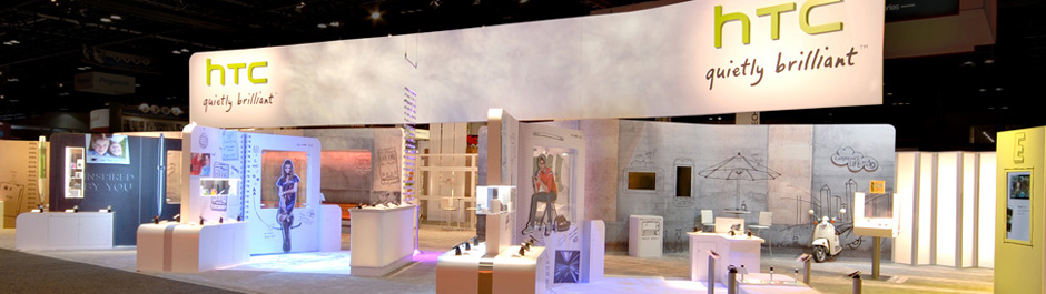 Trade Show exhibit design - HTC
