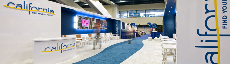Trade Show exhibit design - California Tourism