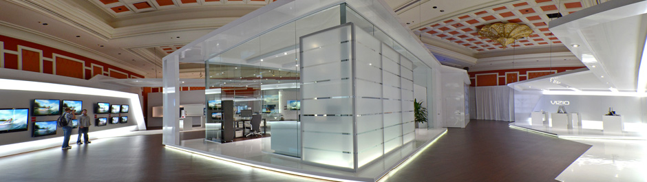 Trade Show exhibit design - Vizio
