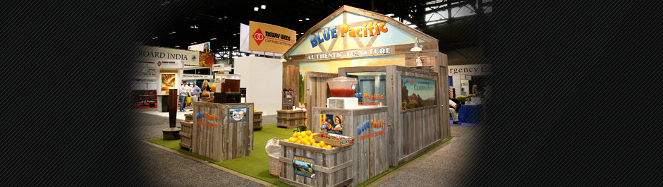 Trade Show exhibit design - Blue Pacific