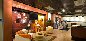 Cincinnati environments, corporate lobby design, museum display, conference and  meeting environment design.