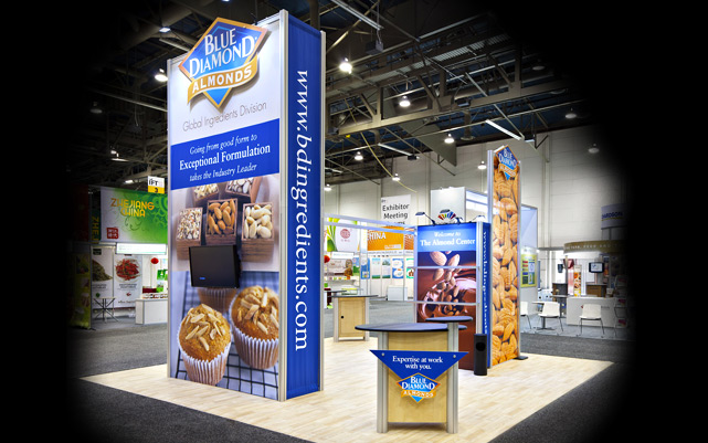 Blue Diamond Almonds Trade Show Booth at IFT Show