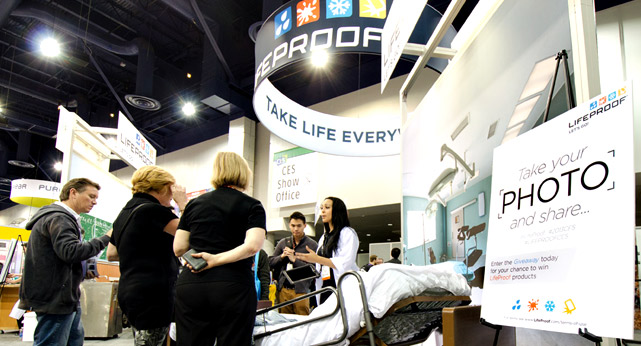 CES LifeProof Booth Activities