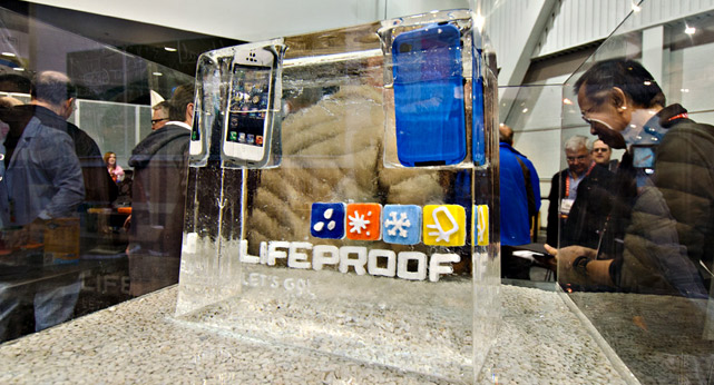CES LifeProof Booth Ice Display