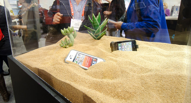 CES LifeProof Booth Sand Demonstration Display