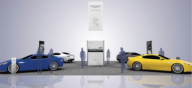 Exhibits and Displays for Auto Event Marketing at Pebble Beach for Aston Martin