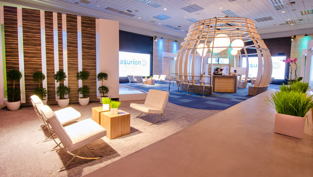 Asurion Private Meeting Room Exhibit at CES