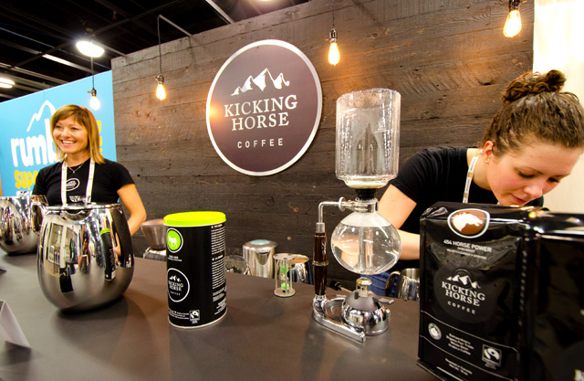 Kicking Horse Coffee Booth at Natural Products Expo West Trade Show at Anaheim Convention Center