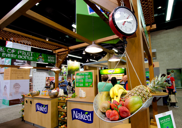 Naked Juice Exhibit at Natural Products Expo West Trade Show at Anaheim Convention Center