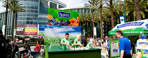 Natural Products Expo West Trade Show Exhibits - Naked Juice Outdoor Sampling Station