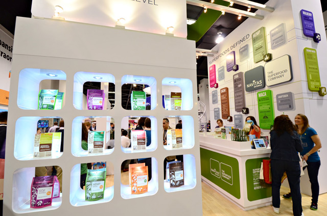 Navitas Naturals Exhibit at Natural Products Expo West at Anaheim Convention Center