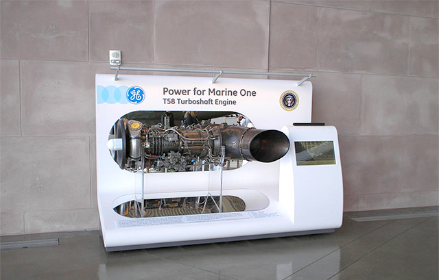 GE T58 Engine Display for Marine One at Ronald Reagan Presidential Library