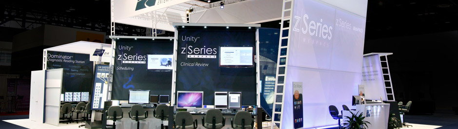 Trade Show exhibit design - DR Systems