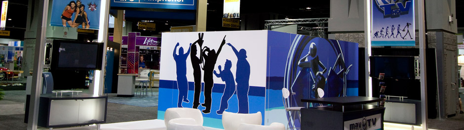 Trade Show exhibit design - Mav TV