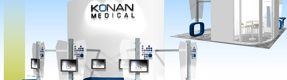 Trade Show exhibit design - Konan Medical