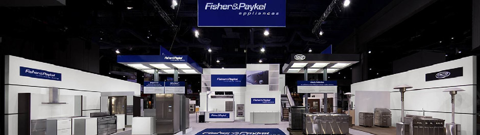 Trade Show exhibit design - Fisher & Paykel