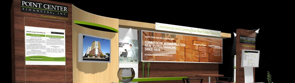 Trade Show exhibit design - Point Center Financial