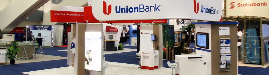 Trade Show exhibit design - Union Bank