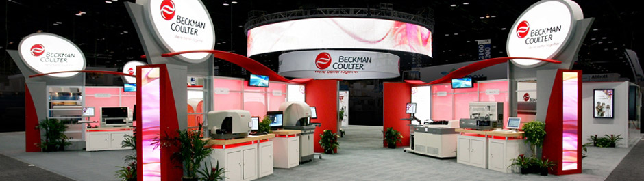 Trade Show exhibit design - Beckman Coulter