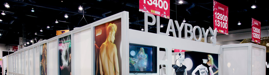 Trade Show exhibit design - Playboy