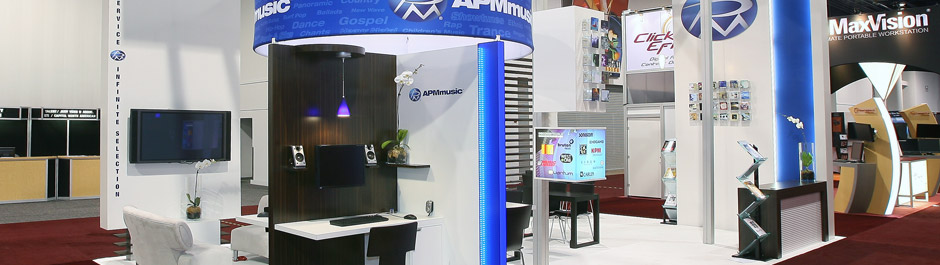Trade Show exhibit design - APM Music