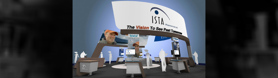 Trade Show exhibit design - Ista Pharmaceuticals