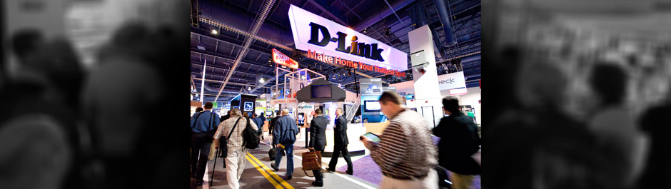 Trade Show exhibit design - D-Link Systems