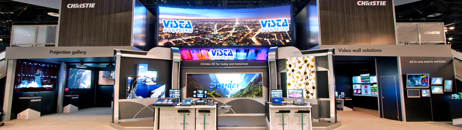 Trade Show exhibit design - Christie Digital