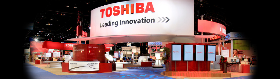 Trade Show exhibit design - Toshiba