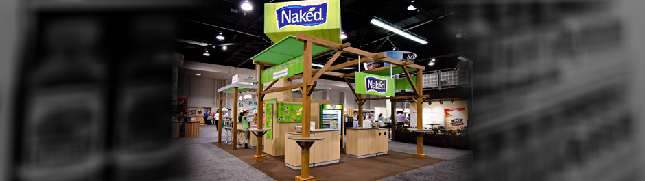 Trade Show exhibit design - Naked Juice