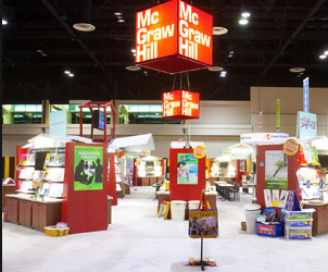 Cincinnati custom exhibit case study - McGraw Hill Custom Exhibit