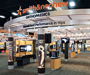 Cincinnati custom exhibit case study - Smith & Nephew Custom Exhibit