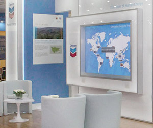 Cincinnati custom exhibit case study - Chevron Rental Exhibit