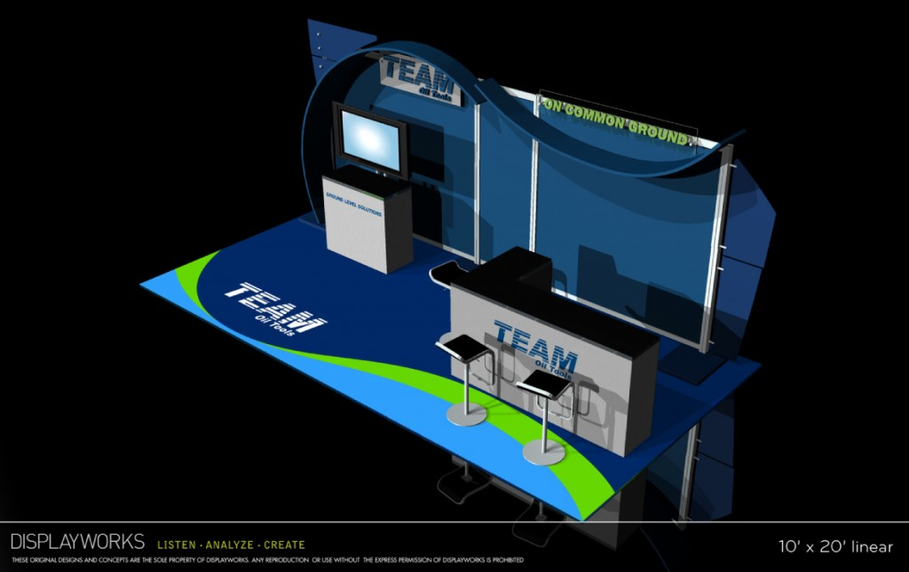 Team Oil Tools Trade Show Booth