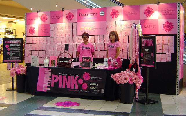 Breast Cancer Awareness Display Shops at Mission Viejo