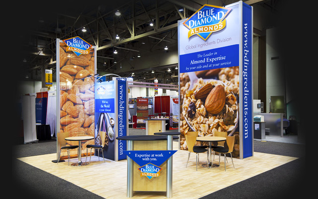 "Expo Exhibition Stands Tall : Attendees go ""nuts for blue diamond at institute of"