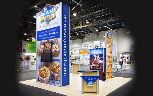 Blue Diamond Almonds Trade Show Exhibit at IFT Show