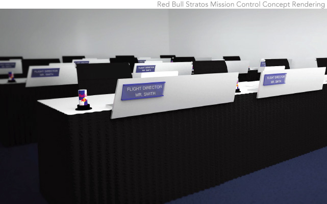 Red Bull Stratos Mission Control Display Rendering