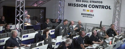 Red Bull Stratos Mission Control Displays