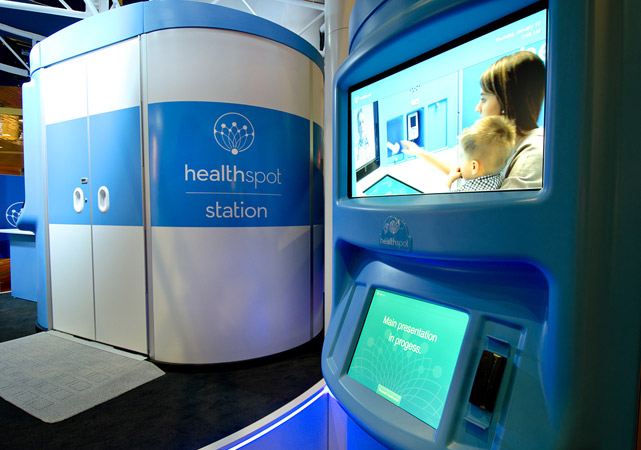 HealthSpot CES Tradeshow Booth