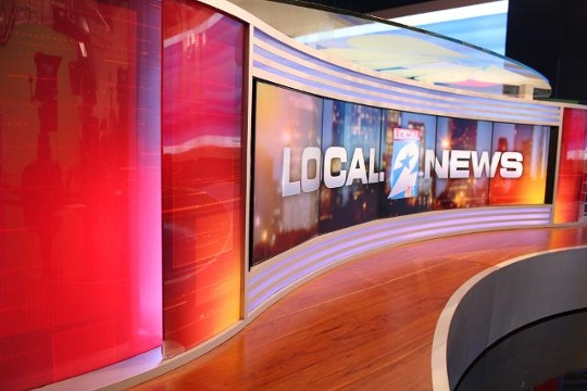KPRC Local 2 New Studio Set Broadcast Desk