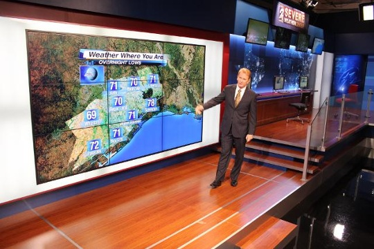 KPRC New Studio Set Build Video Wall