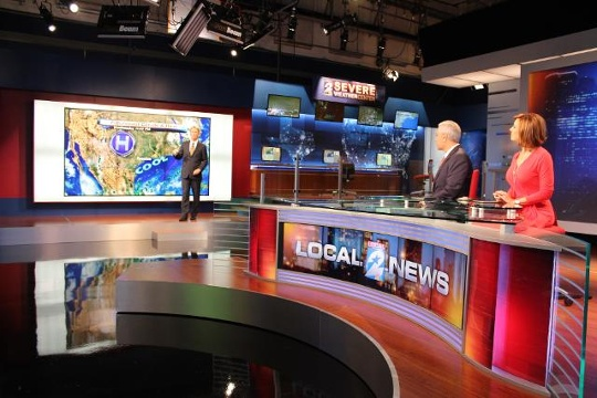 KPRC New Broadcast Studio Set Built in Houston by DisplayWorks