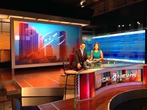 New KPRC Studio Set Exhibit Built in Houston by DisplayWorks